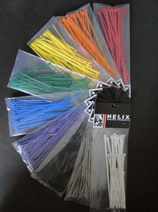 "Picture of 100Pk 4"" Blue Cable Ties"