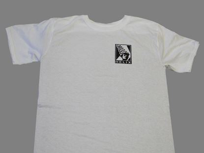 Picture of HELIX T-SHIRT WHITE WITH BLACK LOGO FRONT/BACK, XL
